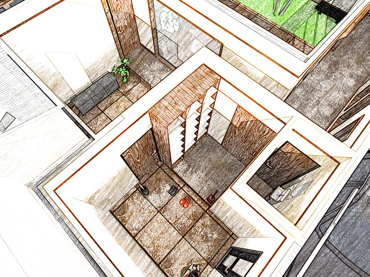 コンセプトデザイン 内観 玄関収納